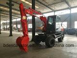 China hizo la máquina de los excavadores de los excavadores Bd80 de la rueda con el compartimiento grande