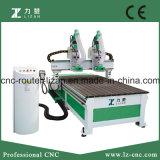 Машина Woodworking CNC 2 отдельно шпинделей