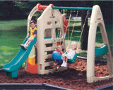 子供のプラスチックスライドおよび振動組合せの運動場装置(HC-16509)