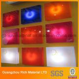 Hoja plástica de acrílico del color para la iluminación del LED/la tarjeta del plexiglás del plexiglás