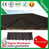 中国の艶をかけられた平屋根の石の上塗を施してある金属の屋根瓦