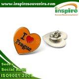 Broche personnalisée en forme de coeur en métal