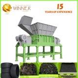 폐기물 플라스틱과 금속 절단 및 이용된 기계 단 하나 슈레더 재생하기를 위해