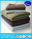 綿の固体サテンのボーダータオルの浴室タオルのEgytian Comedの綿タオル