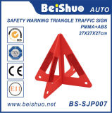 プラスチック交通安全の警告の三角形の交通標識