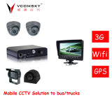 4channels D1 Mini SD Card auto escolar Mobile DVR de 3G + de WiFi+GPS+G-Force