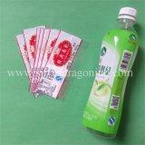 Etiqueta da luva do Shrink da garrafa de água do PVC