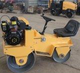 Compresor vibrante del pequeño del montar a caballo Fyl-850 tambor del doble con el motor de Honda