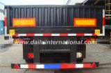 3 Semi Aanhangwagen van de Zijwand van assen de Verticale Golf Grijze Standaard met Rechte Straal