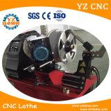 con el torno de pulido y la rueda del CNC de la función enderezando la máquina