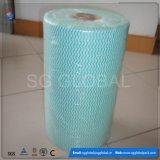 Dickflüssiges Polyester Spunlace nicht gesponnenes Gewebe in der Rolle