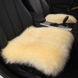 Подушка сиденья автомобиля овчины шерстей квадратного плюша длинняя в черноте