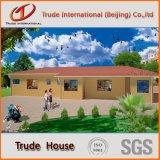 Colorir os painéis de sanduíche de aço móveis/móveis/modulares/Prefab/pré-fabricou a casa de campo viva confortável de aço
