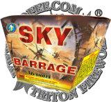 Preço dos fogos-de-artifício do bolo do ventilador dos tiros da barragem 36 do céu o mais baixo