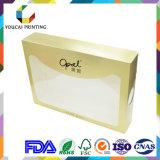 Rectángulo de regalo de empaquetado de papel del rectángulo del color de oro