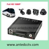 Sistemas móviles del canal HDD/SSD DVR de HD 1080P 3G/4G/WiFi/GPS 4 para la gerencia de la flota y la vigilancia del omnibus