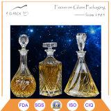 frasco de vidro do espírito 800ml, frasco da vodca, frasco de uísque com selo da cortiça
