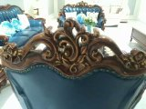 Sofa de cuir de type de l'Amérique, sofa antique de cuir de cire, sofa de modèle neuf de qualité (B018)