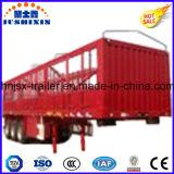 De op zwaar werk berekende Semi Aanhangwagens van de Vrachtwagen van de Staak van de Carrier van de Goederen van het Vee & van het Landbouwbedrijf van de tri-As