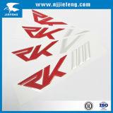O fabricante projetou o logotipo plástico de borracha da etiqueta