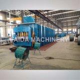 Machine de vulcanisation hydraulique de presse de platine en caoutchouc de bande de conveyeur corrigeant le vulcanisateur de presse