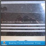 Semelle noire/grise/jaune de granit/de marbre d'escalier avec antidérapage sablé