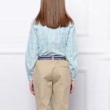 Les plus défuntes chemises neuves de vérification d'uniforme scolaire de coton de coutume en gros