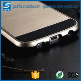 Cubierta del teléfono móvil del satén del cepillo para la caja de la galaxia S6 de Samsung