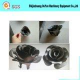 Flor de Rosa do ferro de molde do ferro feito/flor decorativa do ferro para a porta