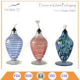 Lámpara de petróleo de cristal colorida sólida, lámparas de keroseno de cristal