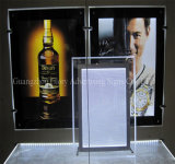 Publicité Edge Lit LED suspendue Crystal LED Light Box