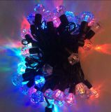 diodo emissor de luz 50 String Light de 220V Diamond Multicolor 5m para banquetes de casamento Halloween Decoration Light Free Shipping do Xmas de Christmas a nós Europa etc.