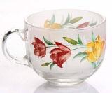 ビールのための素晴らしいステッカーの花のガラスマグのガラスコップ