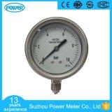 indicateur de pression inférieur d'acier inoxydable de connexion de 2.5 '' 60mm