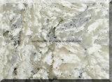 Lajes de pedra artificiais da cor de mármore por atacado para a bancada da cozinha de quartzo