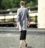 Vestido longo da cachemira das mulheres Vestido longo da tartaruga da luva 16brdw014