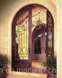 Porta principal Hand-Crafted de ferro feito da sobrancelha parte superior popular