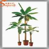 Árbol Potted de los bonsais de la venta del hogar de la decoración del plátano artificial caliente de la planta