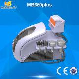 El adelgazar frío del laser de Lipo del vacío del RF de la cavitación del laser de Lipo (MB660plus)