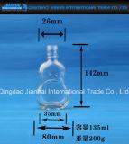 Zylinderförmiger Calabash-transparente Glaswein-Flasche