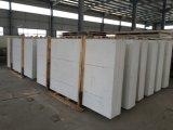 De opgepoetste Witte Gebouwde Plak van de Steen van het Kwarts voor Countertops
