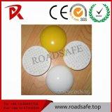 La strada di ceramica bianca degli occhi di gatto di colore giallo di alta qualità di Roadsafe fissa l'indicatore della pavimentazione