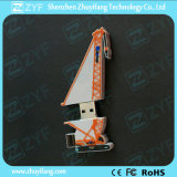 Movimentação feita sob encomenda do flash do USB da forma 8GB do guindaste com logotipo (ZYF1089)
