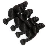 最上質の100%の人間の毛髪の緩い波のWeftブラジルの毛