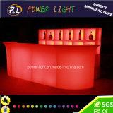 LEDの家具プラスチックによって照らされる棒カウンター
