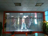 Pantalla transparente impermeable al aire libre de la tira de la visualización de LED de la red LED para el edificio de la ventana de cristal