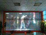 非常に透過ガラスLEDのビデオ壁のゆとりのLED表示スクリーンの/Mediaの正面LEDのビデオ壁