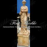 Marmeren Standbeeld Mej.-870 van het Calcium van het Standbeeld van het Graniet van het Standbeeld van de Steen van het Standbeeld Gouden