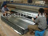 La plaque en acier galvanisée enduite par zinc/a ridé la feuille galvanisée de toiture de fer