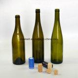 bottiglia antica del Bordeaux di vetro verde 750ml per vino (NA-001)